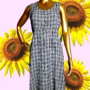 90s Vintage Plaid Sleeveless Babydoll Dress